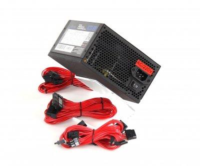 Блок Живлення Frime OCTO-500 APFC COLOR BOX; Модульний, 2 hdd, sata 6, 6 pin, 8pin (6+2)роз'єми і 8pin (4+4) кабель живлення 220В в комплекті