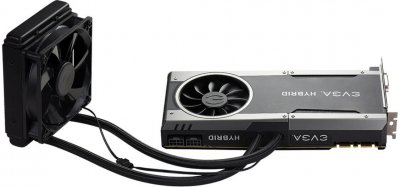 EVGA PCI-Ex GeForce GTX 1080 FTW Hybrid Gaming 8GB GDDR5X (256bit) (1721/10000) (DVI, HDMI, 3 x DisplayPort) (08G-P4-6288-KR)