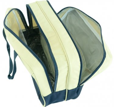 Дорожная сумка TRAUM 20 х 30 х 15 см синий с песочным (7065-09)