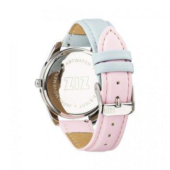 Годинники наручні Ziz Рожевий кварц і Безтурботність ремінець блакитно-рожевий срібло і додатковий ремінець PPU-142720