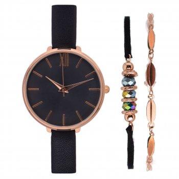 Жіночий наручний годинник Anna Field Jgzyy Gold Black браслети PPU-188631