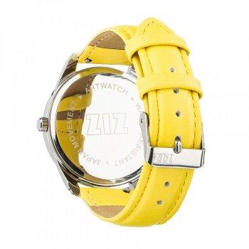 Годинники наручні Ziz Мінімалізм ремінець лимонно-жовтий срібло і додатковий ремінець PPU-142865