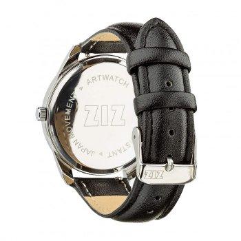Часы наручные Ziz Минимализм черный ремешок насыщенно-черный серебро и дополнительный ремешок PPU-142882