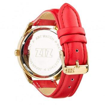 Часы наручные Ziz Минимализм черный ремешок маково-красный золото и дополнительный ремешок PPU-142886