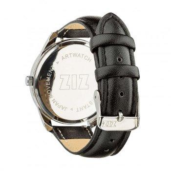 Часы наручные Ziz Планеты ремешок насыщенно-черный серебро и дополнительный ремешок PPU-142645