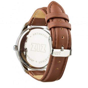 Годинники наручні Ziz Карта ремінець кавово-шоколадний срібло і додатковий ремінець PPU-142617