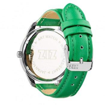 Часы наручные Ziz Минимализм ремешок изумрудно-зеленый серебро и дополнительный ремешок PPU-142862