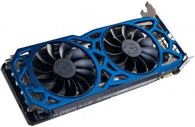 EVGA PCI-Ex GeForce GTX 1080 Ti SC2 Elite Gaming Blue 11GB GDDR5X (352bit) (1556/11016) (DVI, HDMI, 3 x DisplayPort) (11G-P4-6693-K3)