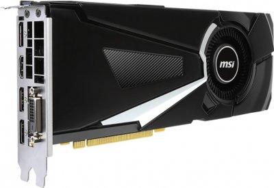 MSI PCI-Ex GeForce GTX 1080 Aero OC 8GB GDDR5X (256bit) (1632/10010) (DVI, HDMI, 3 x DisplayPort) (GTX 1080 AERO)