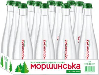 Упаковка минеральной природной слабогазированной воды Моршинська Преміум 0.33 л x 12 бутылок (4820017000598)