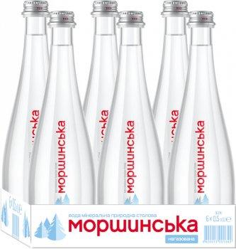 Упаковка минеральной природной столовой негазированной воды Моршинська Premium 0.5 л х 6 бутылок (9869005654417_240268)
