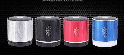Портативна колонка WSTER WS-230BT (вбудований мікрофон) Silver (Срібло)