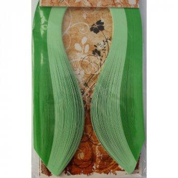 Набір смужок паперу для квілінгу Бумажные изделия Зелень 120 шт. (5-0205)