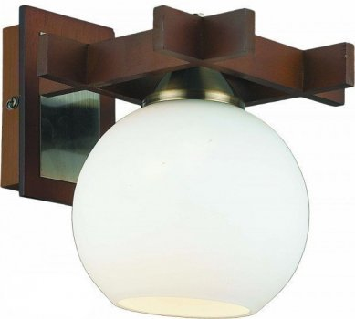 Бра Altalusse INL-3089W-01 Antique Brass & Walnut (8599879301490)