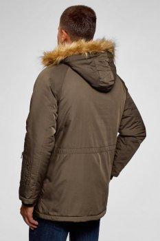 Куртка зимняя Oodji Оливковый 1L422002M/48600N/6600N