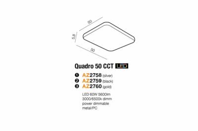 Стельовий світильник AZzardo QUADRO 50 CCT LED AZ2759