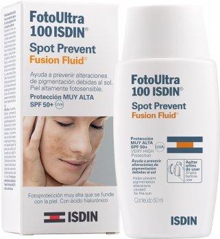 Флюїд для обличчя Isdin Foto Ultra Spot Prevent/Fusion Fluid SPF 50+ 50 мл (8470001631688)