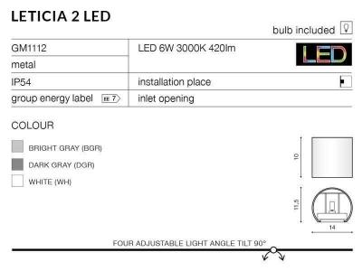Бра AZzardo ЛЕТІСІЯ 2 LED AZ2190