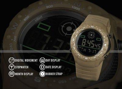 Чоловічі армійські годинник Infantry Expedition хакі