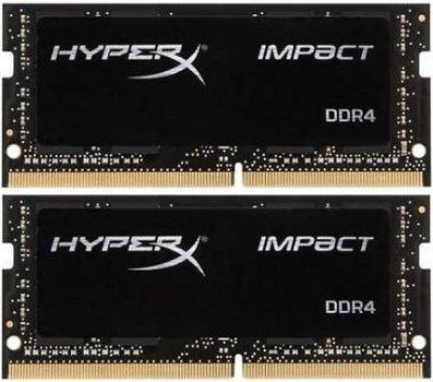 Оперативна пам'ять HyperX SODIMM DDR4-2400 32768MB PC4-19200 (Kit of 2x16384) Impact (HX424S14IBK2/32)