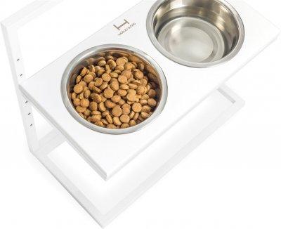 Підставка на дві миски для собак Harley and Cho Lift M 0.75 л 30 см Біла (3300178)