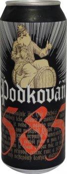 Упаковка пива Podkovan Karamel тёмное фильтрованное 4% 0.5 л х 12 шт (8594170340452)