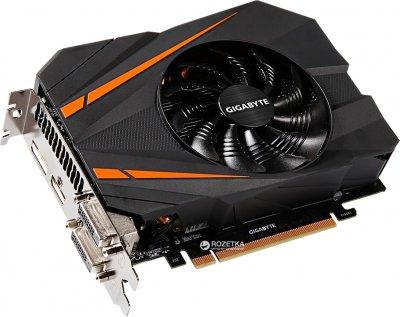 Gigabyte PCI-Ex GeForce GTX 1080 Mini ITX OC 8GB GDDR5X (256bit) (1607/10010) (DVI, HDMI, 3 x Display Port) (GV-N1080IX-8GD)
