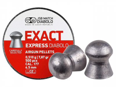 Пули пневм JSB Diablo Exact Express 4,52 мм 0,510 гр. (500 шт/уп)