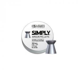Пули пневм JSB Diabolo Simply, 4,5 мм ,0.535 гр, 500 шт/уп
