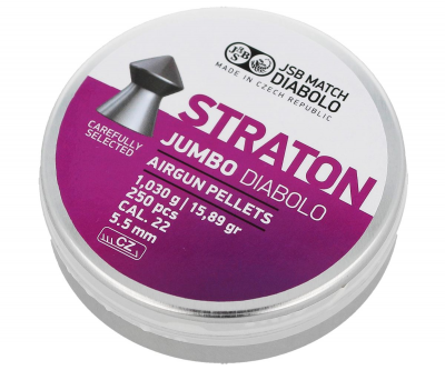 Пули пневм JSB Jumbo Straton, 5,5 мм , 1,03 г, 250 шт/уп