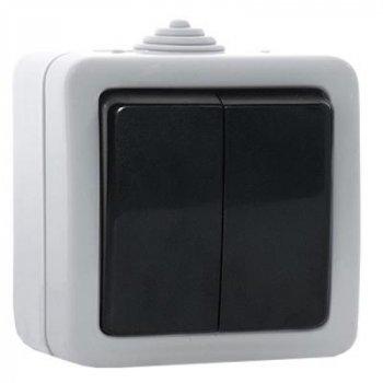 Электроустановочное изделие REAL-EL Выключатель двойной (Storm-72015)
