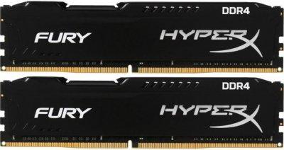 Оперативна пам'ять HyperX DDR4-2666 16384MB PC4-21300 (Kit of 2x8192) Black Fury (HX426C16FB2K2/16)