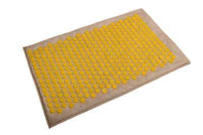 Масажний килимок (аплікатор Кузнєцова) Lounge Maxi 80*50 см Жовтий