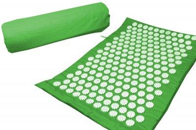 Масажний килимок (аплікатор Кузнєцова) Релакс 55*40 см Зелений