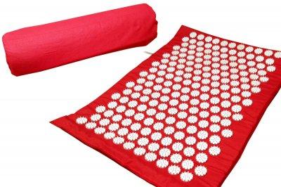 Масажний килимок (аплікатор Кузнєцова) Релакс 55*40 см Червоний