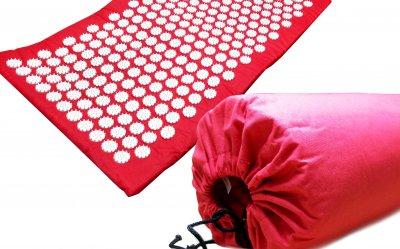 Масажний килимок (аплікатор Кузнєцова) Релакс 165*40 см Червоний