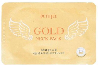 Гидрогелевая маска для шеи Petitfee Hydrogel Angel Wings Gold Neck Pack с плацентой 10 г (8809239802995)
