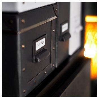 Контейнер для зберігання IKEA FJÄLLA 18x26x15 см з кришкою темно-сірий 703.956.73