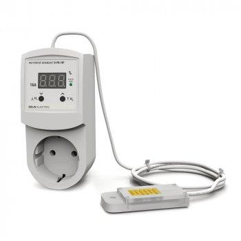 Регулятор-цифровий вимірювач вологості в розетку Deus Electro РВ-16Р-AM2302 (220В, 16А)