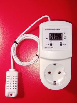 Регулятор вологості повітря цифровий Deus Electro РВ-16Р-DHT11 на 16А
