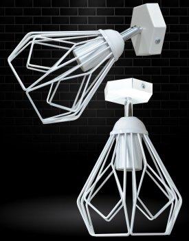 Світильник настінний бра 100lamp Е-27 метал, білий (NL 538-1W)