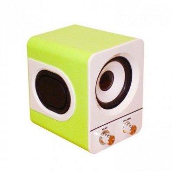 USB колонки для ПК 2.1 Hiraliy H1 зеленые 8 Вт