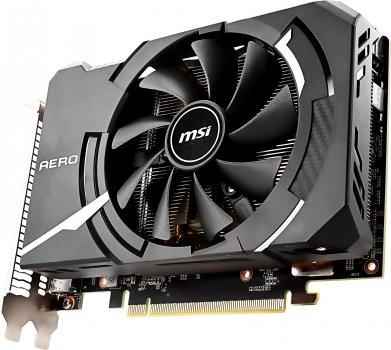 MSI PCI-Ex GeForce RTX 2060 Aero ITX 6G 6GB GDDR6 (192bit) (1680/14000) (3 x DisplayPort, 1 x HDMI 2.0b) (RTX 2060 AERO ITX 6G)