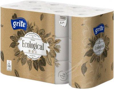 Туалетний папір Grite Ecological Plius 3 шари 24 рулони (4770023348965/4770023350265)