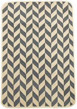 Набір килимків у ванну кімнату Izzihome Solo 40x60, 60x90 см Krem Zigzag