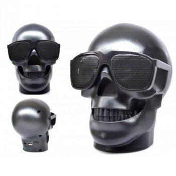 Портативная Bluetooth колонка Череп Skull Black