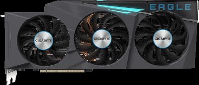 Gigabyte PCI-Ex GeForce RTX 3080 EAGLE 10G 10GB GDDR6X (320bit) (1710/19000) (2 х HDMI, 3 x DisplayPort) (GV-N3080EAGLE-10GD)
