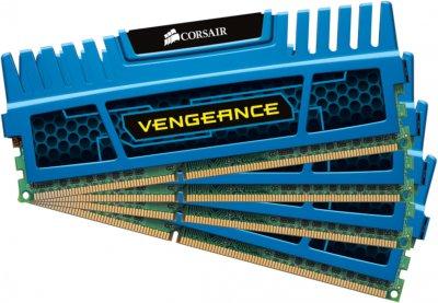 Оперативна пам'ять Corsair DDR3-1600 16384MB PC3-12800 (Kit of 4x4096) Vengeance Blue (CMZ16GX3M4A1600C9B)