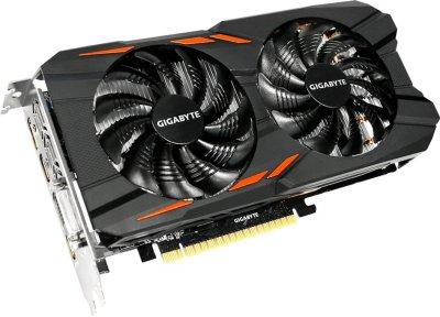 Gigabyte PCI-Ex GeForce GTX 1050 Ti Windforce OC 4GB GDDR5 (128bit) (1328/7008) (DVI, 3 x HDMI, DisplayPort) (GV-N105TWF2OC-4GD)