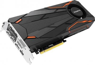 Gigabyte PCI-Ex GeForce GTX 1080 Turbo OC 8GB GDDR5X (256bit) (1632/10010) (DVI, HDMI, 3 x DisplayPort) (GV-N1080TTOC-8GD)